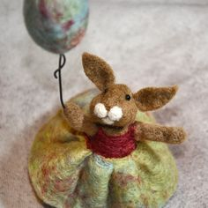 Needle felted Bunny Rabbit by BearCreekDesign on Etsy