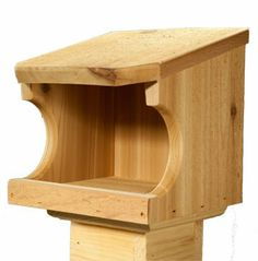 Wooden Roosting Box for Robins or Cardinals