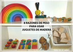 Para nosotros jugar con juguetes de madera es la mejor opción. En el blog te explico el por qué, con 8 razones de peso. Y además te lo demuestro con imágenes de mis propios juguetes de pequeña.