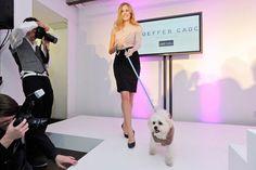 Designer Joeffer Caoc dressed Heather Ogden. Pet Valu dressed her runway partner, Cooper.