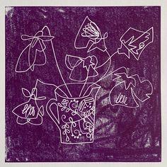 Lino print by Angela Birchall
