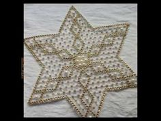Kasnakda Boncuk Yapımı - YouTube Craft Projects, Projects To Try, Plastic Canvas, Diwali, Beaded Embroidery, Needlework, Floral, Brooch, Crochet