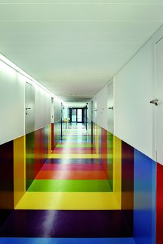 colourful hall way