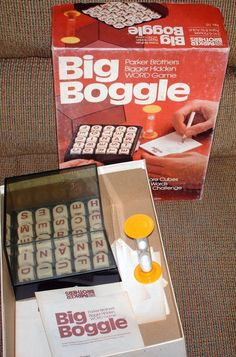 VINTAGE PARKER BROTHERS 1979 BIG BOGGLE GAME BOXED WITH DIRECTIONS #parkerbrothers