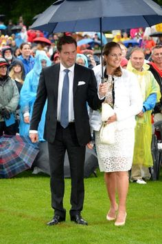 Christopher O'Neill and his wife Princess Madeleine of Sweden attend the Victoria Day celebrations, on the Crown Princess's 37th Birthday at Solliden, 14.07.2014 in Oland, Sweden.