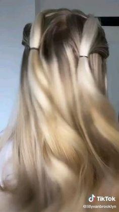 Hair Tutorials For Medium Hair, Medium Hair Styles, Curly Hair Styles, Hair Tips Video, Hair Videos, Easy Hairstyles For Long Hair, Cool Hairstyles, Hair Upstyles, Aesthetic Hair