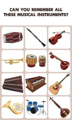 Musical Instrument Match: Memory Game: is a concentration-style educational memory game for kids to learn about different kinds of Musical Instrument. Kids of all ages and grades can enjoy this Musical Instrument memory game along with their parents, grandparents as it's going to activate some areas of their brain responsible for memory acquisition which therefore can help their memory improve.