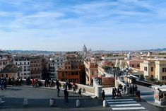 Starting Point for Rome in 3 Days - Top of the Spanish Steps. Part of being high up is starting with some pretty nice views of Rome. 3 Days In Rome, Rome Attractions, Tourist Trap, Rome Travel, Rare Pictures, Best Places To Eat, Rome Italy, Nice View, Where To Go