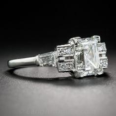 2.24 Carat Rectangular Step-Cut Diamond Ring GIA G VS2 - 10-1-7378 - Lang Antiques