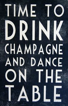 champagne? I'm in