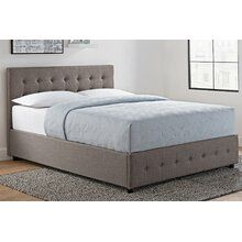 DHP Cambridge Upholstered Linen Platform Bed with Wooden Slat Support and Under Bed Storage, Button Tufted Headboard, Full Size - Grey Upholstered Panels, Furniture, Adjustable Beds, Upholstered Storage, Bed Storage, Upholstered Platform Bed, Headboard And Footboard, Bed Frame, Upholstered Beds