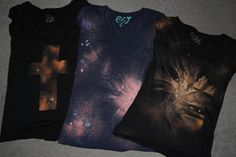 This Fashion Is Mine: DIY Galaxy Print Tee ** FYI ** just my personal experience with reverse tie-dye ... some t-shirts are so color fast that they won't bleach out.