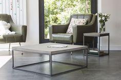 Table basse béton et métal Perspective 75x75x27