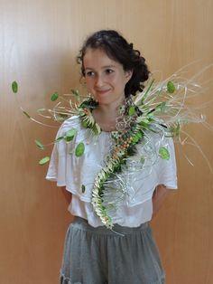 Sculptural Fashion, Floral Fashion, Flower Dresses, Flower Decorations, Flower Designs, Floral Design, Floral Clothing, Creations, Bride