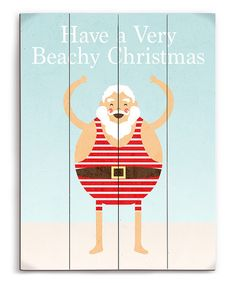 Another great find on #zulily! Swimsuit Santa Wall Art #zulilyfinds