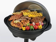 Electric #Grill were going to get.  It comes with a stand and we can even put it on the apt patio!  $99.99