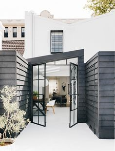 A black and white house in the Surry Hills