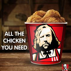 Haha, Sandor Clegane will eat every chickun in this room :D #thehound