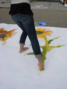 Large-scale painting with feet [pic only]