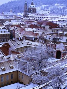 Prague, Czech Republic -SNOW
