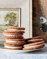 Gingersnap Sandwich Cookies Recipe on Food & Wine