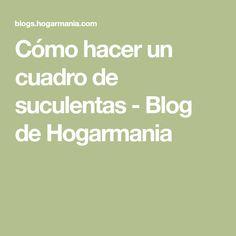 Cómo hacer un cuadro de suculentas - Blog de Hogarmania