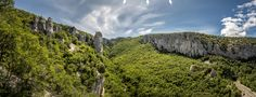 Vela draga, near Lupoglav, is the monument of exceptional geomorphologic value. It was created by water torrents which made a 3500 meter long canyon in limestone rocks. It starts at the Zrinščak tunnel and ends at the Boljunsko polje. It is special for its pointy rocks, with 50-90 meter tall towers, some of which were destroyed during the construction of the Učka tunnel. Tourist Board, Tourist Map, Limestone Rock, Livestock Farming, Julian Alps, Mountain Hiking, Trieste, Nature Reserve, Old Buildings