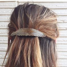 Feather Barrette, $16 | Brass | Light Years Jewelry