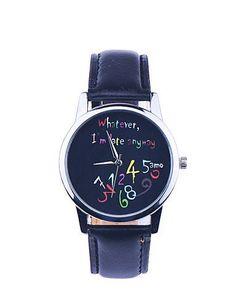 SKLIT rustikale Armbanduhr für Männer Frauen, Lederarmband Uhr, was bin ich spät auch immer, einzigartiges Geschenk für Ehemann oder Vater - http://uhr.haus/sklit-watches/sklit-rustikale-armbanduhr-fuer-maenner-frauen