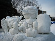 Impresionantes Esculturas De Invierno | Arte Sapporo, Helsinki, World Festival, Snow Sculptures, Snow Art, Island Park, Rail Car, Winter Festival, Harbin