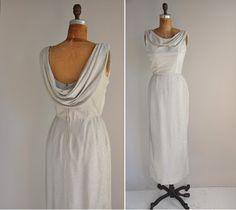 vintage 1960s silver cocktail dress