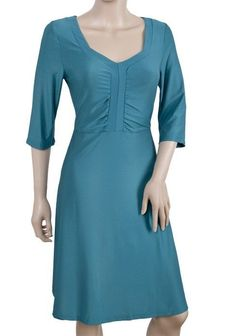 Women's Sleeve Sea Blue V-neck Stretch Viscose Long Dress Size 14 Neck Stretches, Blue V, Maxi Wrap Dress, Stretch Dress, Size 14 Dresses, Sexy Women, Cold Shoulder Dress, Fashion Looks, Tunic Tops