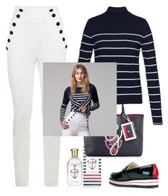 """""""Gigi's Style"""" by dianakhuzatyan ❤ liked on Polyvore featuring Tommy Hilfiger, tommyhilfiger, polyvoreeditorial and gigihadid"""