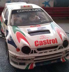 Mi Toyota Corolla de #Scalextric es todo un veterano de las carreras de #Slot
