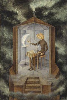 Bordando el manto terrestre (Embroidering the Earth's Mantle), 1961, oil on masonite, 39 1/2 x 48 1/2 inches (100 x 123 cm)