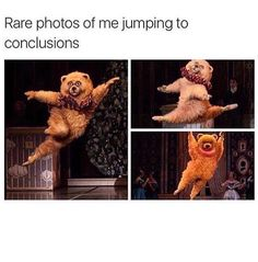 Rare Photos Of Me Jumping To Conclusions. ~ Memes curates only the best funny online content. The Ultimate cure to boredom with a daily fix of haha, hehe and jaja's. Funny Shit, Stupid Funny Memes, Funny Relatable Memes, Funny Posts, Hilarious, Funny Stuff, Funniest Memes, Funny Things, Funny Quotes