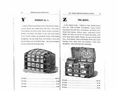 St. Louis. Trunk Factory 1881 Trunk Catalog