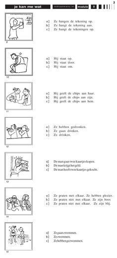 Oefening : kies het juiste antwoord (2) Learn Dutch, Dutch Netherlands, Dutch Language, Kids Education, Speech Therapy, Kids Learning, Teacher, Activities, Lettering