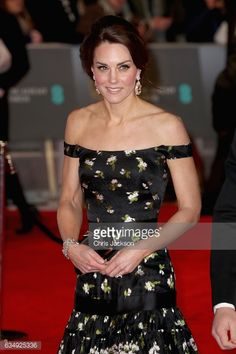 Catherine Duchess of Cambridge attend the 70th British Academy Film Awards at Royal Albert Hall on Feb. 2017 in London