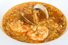 Varomeando: Arroz caldoso con almejas y gambas para dos Clean Recipes, Rice Recipes, Seafood Recipes, Healthy Recipes, Snack Recipes, Couscous, Kitchen Recipes, Cooking Recipes, Quinoa