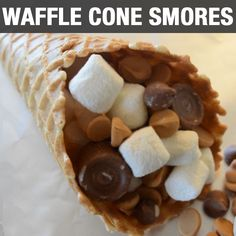 Make Less Mess with These Waffle Cone Smores - Country Chic