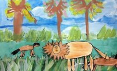 Jungle Collage inspired by Rousseau - Artsonia Lesson Plan