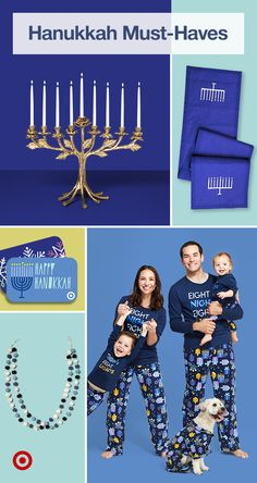 Find Hanukkah-inspired decor, party games, kosher food & holiday outfits to cele. Find Hanukkah-inspired decor, party games, kosher food & holiday outfits to cele… Find Hanukkah- Hanukkah Diy, Hanukkah Food, Feliz Hanukkah, How To Celebrate Hanukkah, Hanukkah Decorations, Christmas Hanukkah, Happy Hanukkah, Hanukkah 2019, Hanukkah Celebration