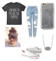 """""""Sparkle"""" by egloomis on Polyvore featuring Topshop, Converse, Agent 18 and Kendra Scott"""