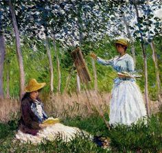 IN THE WOODS AT GIVERNY, BY CLAUDE MONET