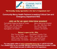 Join Community Mercy Health Partners for an open interview session today from 9AM to 6PM. Don't miss this #nursing opportunity, nurses!