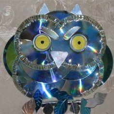 Owl of the CD drive / Сова из CD дисков