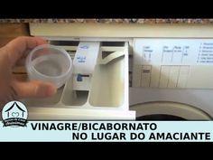 Substituir amaciante de roupas por vinagre ou bicarbonato - YouTube