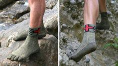 これはすごい、海の中も岩の上も靴のように走れる超丈夫素材の靴下
