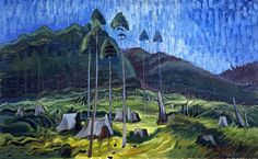 Emily Carr blazed an art trail depicting Canada in such a way that her paintings are now at the forefront of Canadian art, at home and abroad. Tom Thomson, Emily Carr, Vancouver Art Gallery, Art Gallery Of Ontario, Canadian Painters, Canadian Artists, Jackson, Group Of Seven, Canada